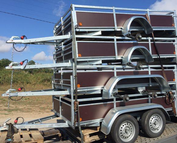 Remorca mono ax 750 kg Delje 2.00 x 1.30